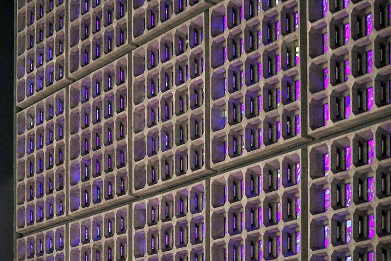 Detail of Kaiser-Wilhelm-Gedächtniskirche in Berlin in the evening Berlin Colorful Detail Exterior Gedaechtniskirche Geometry Modern No People Pattern Urban