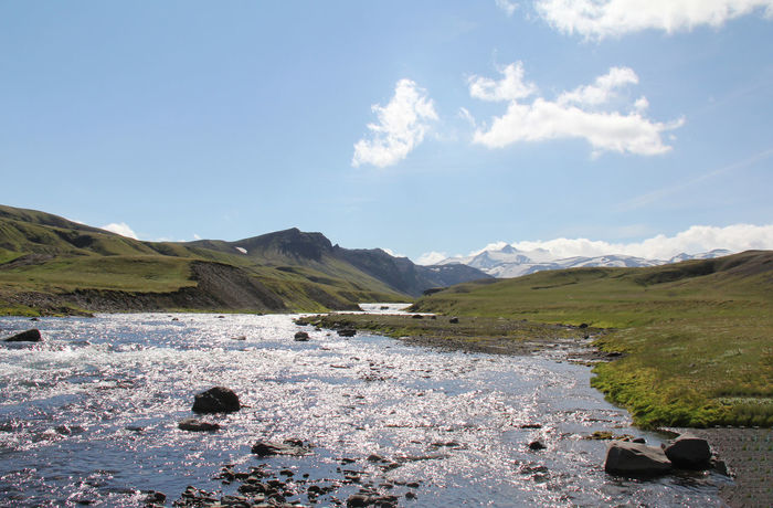 Iceland Riverside Offroad Adventure Silver  Sky