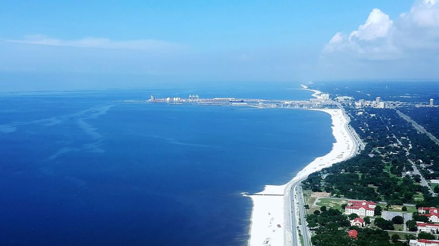 Beach City Cloud - Sky Coastline Landscape Day Gulfport Horizon Over Water Mississippi Gulfcoast Nature Nautical Vessel No People Outdoors Port Of Gulfport Mississippi, Scenics Sea Sky Travel Travel Destinations Water mississippi