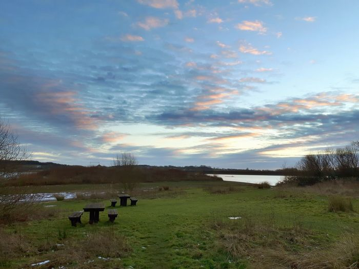 Beautiful sky 💕 Picnic Table Scenic Carsington Sunset Clouds And Sky Reservoir Water Carsington Reservoir