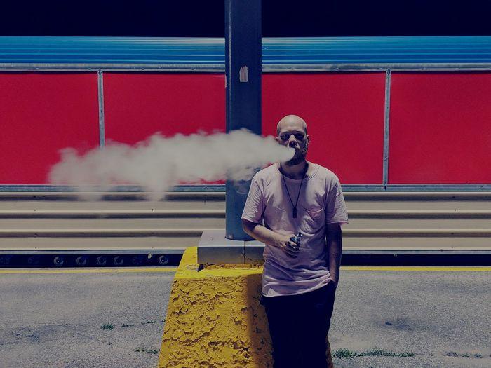Men RISK Danger Smoke - Physical Structure