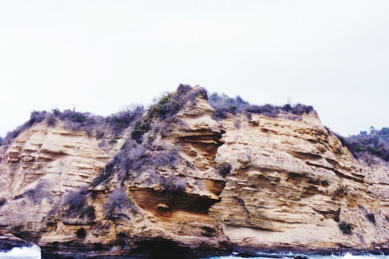 Puerto López J.J.D.R. Manabi Ecuador Low Angle View Day Nature Rock - Object Outdoors No People Mountain Beauty In Nature Rock Face Close-up Sky