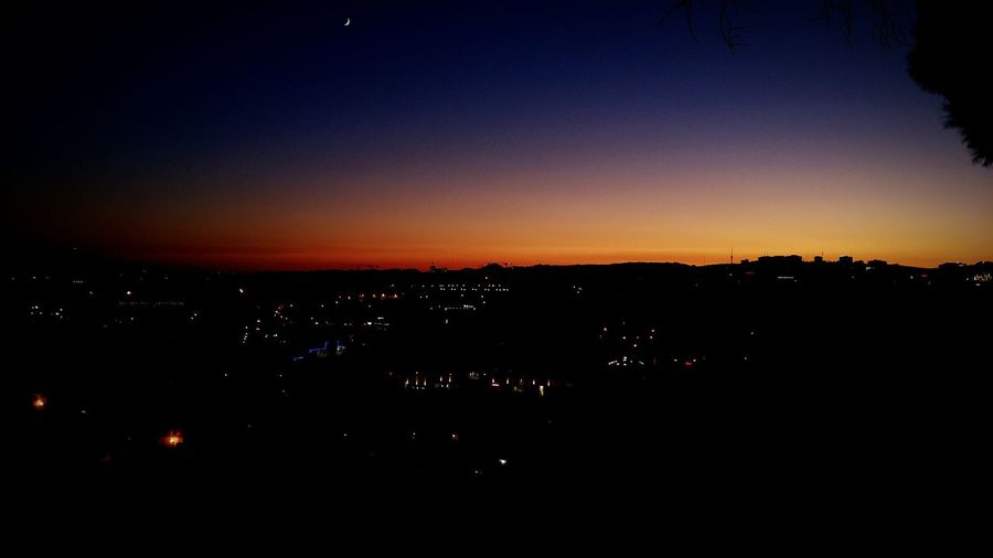 Sky by night Illuminated City Dark Cityscape Darkness Tranquility Sky