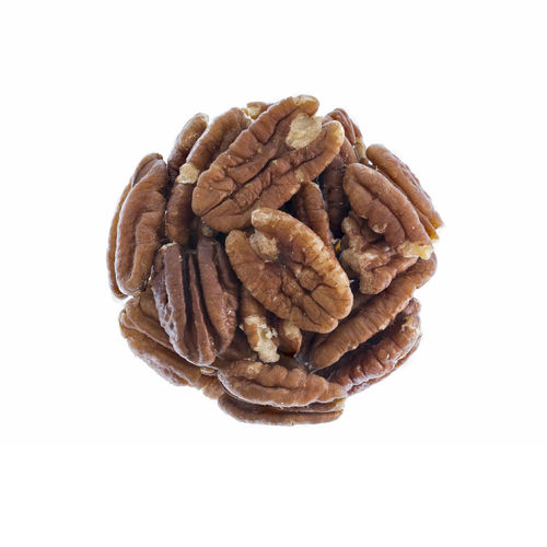 Pecan Brown Close-up Copy Space Cut Out Food Food And Drink Freshness Healthy Eating High Angle View Indoors  No People Nut Nut - Food Pecan Nuts Pecans Round Single Object Snack Still Life Studio Shot Textured  Walnut Wellbeing White Background