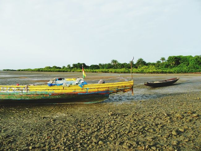 Low Tide Fishi Boat Fishing Bissau Guinea Colors Sea Beach Africa African Beauty Nature Photography African Bolama Fisherman Sea And Sky Africa Day To Day Life