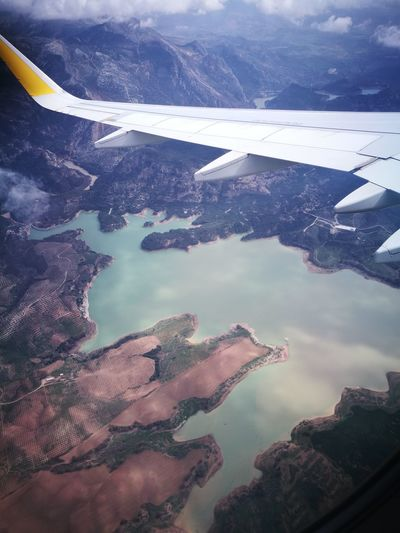 Water Hot Spring Mountain Sea Airplane Aerial View Volcanic Landscape High Angle View Sky Landscape