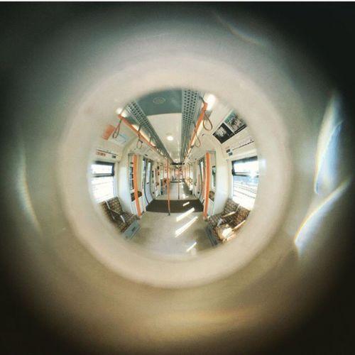 Fish-eye Lens Train London