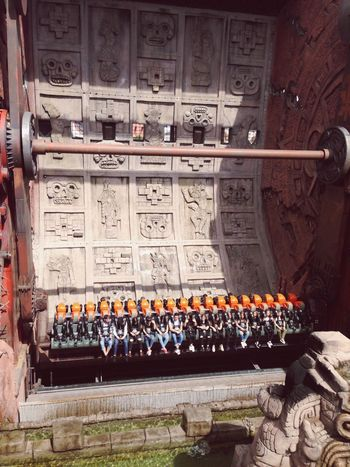 Attraction Long Lines Fun Phantasialand Germany Architecture Theme Park Mayan