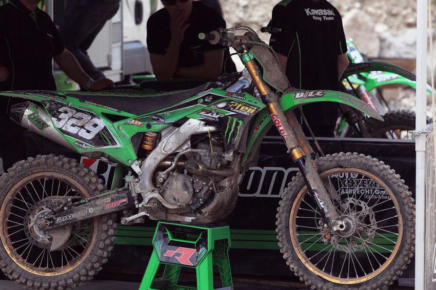 Dirty K Kawasaki Land Vehicle Motocross Motorcycle Motorcycle No People World Champion