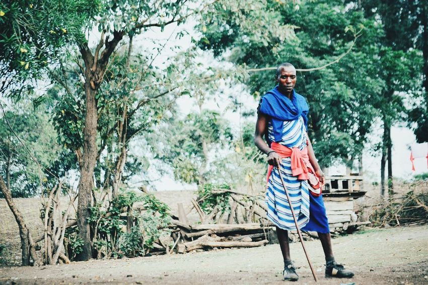 Maasai Warrior Only Men One Man Only Full Length Adults Only Adult One Person Casual Clothing Outdoors One Senior Man Only Day People Men Nature Tree Portrait maasaiMaasai Land Tanzania Animal Wildlife Wildlife & Nature Adult Rural Scene Africa Maasai Shuka Kenya Maasai Maasaiwarrior warrior kenya tanxania africa