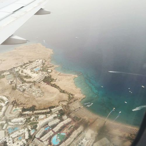 Freshness Nature Water Sea Airplane Aerial View Nature Beauty In Nature Airplane Wing Secretofsea