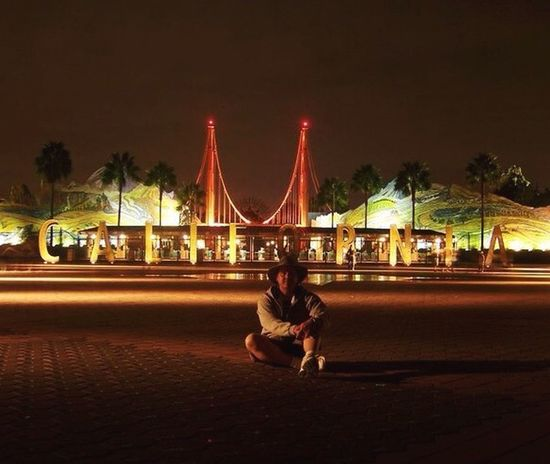 A Long Time Ago Hanging Out Taking Photos in Disney California Adventure Very Early Morning . That's Me ++ Spot