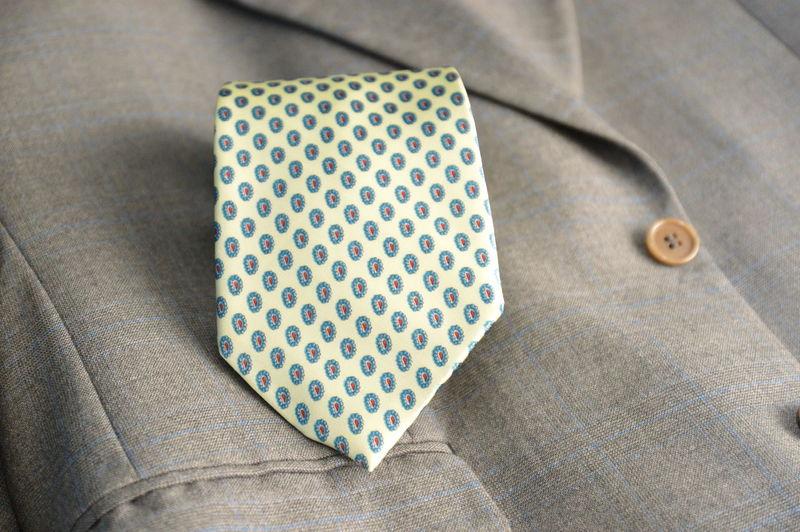 Close-up of necktie on blazer