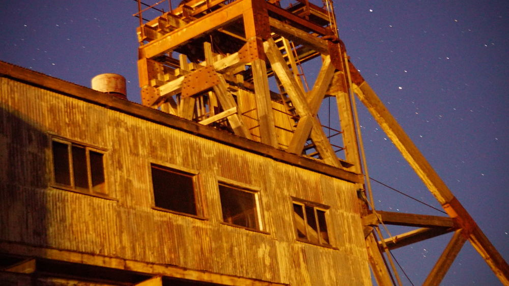 Outbackaustralia Outback Night Sky Mine Shaft Stars Night Broken Hill Nsw