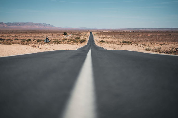 Road Passing Through Desert