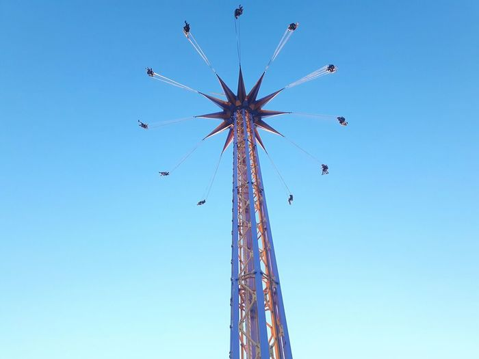 I left my soul in this ride. Amusement Park Low Angle View Clear Sky Amusement Park Ride Blue Outdoors Day Fun