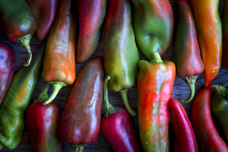 Close-Up Of Multi Colored Peppers
