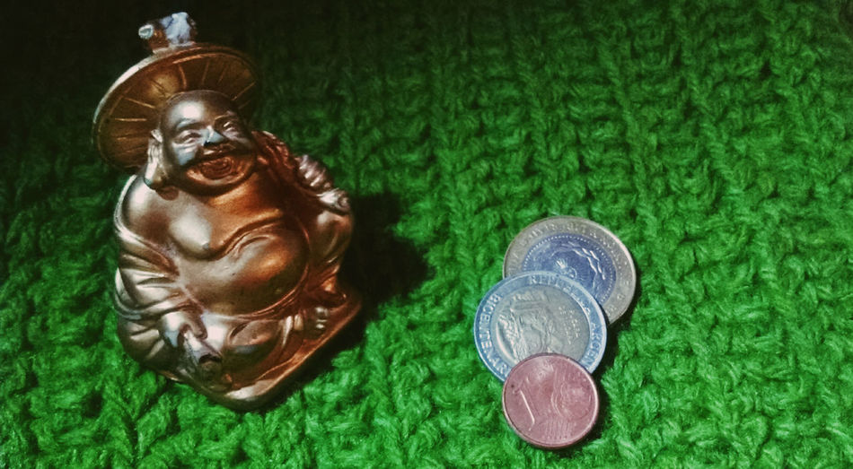 Buda Lucky Green Color Smile Sunday Day Green Color Statue No People Art Is Everywhere Collection Suerte Y Sonrie Photocam Beutiful ;) Happy Happiness Happy People Good Trapillo Crochetlove Crochet Creativity Creative Light And Shadow Green Green Green!  Buda Statue