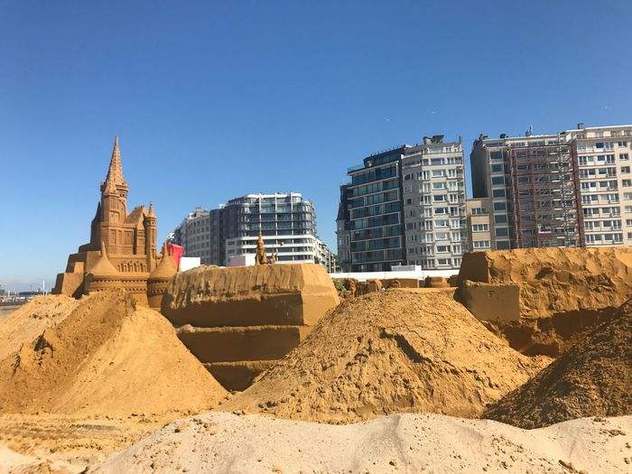 sandcastle Amazing Oostende June 2017 Belgium Sandcastles Architecture Sand Built Structure Building Exterior Clear Sky Travel Destinations Beach Outdoors Skyscraper No People City Cityscape Day Modern Sky