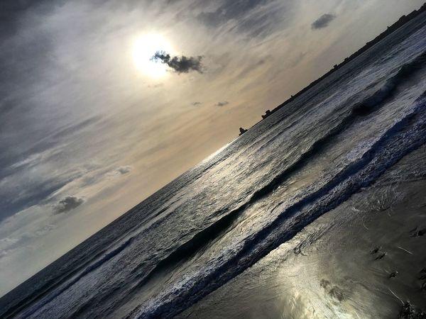 Beforesunset Littlecloud Sunbeams Sand Dune