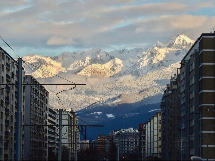 Mountain Snow Mountain Range Cold Temperature Winter Architecture Building Exterior