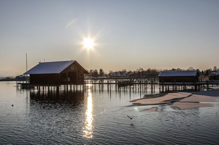 Winter Architecture Beauty In Nature Building Exterior Built Structure Chiemsee Clear Sky Cold Cold Temperature Day Lake Nature No People Outdoors Reflection Sky Sun Sunlight Sunset Water Waterfront