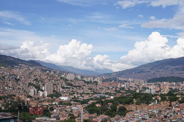 Medellin city view communa 13 Swinginginaplumtree Panorama View Comuna 13 City View  Medellin City EyeEm Selects Building Exterior Architecture Built Structure City Sky Cloud - Sky Mountain Range TOWNSCAPE Town Outdoors Day High Angle View