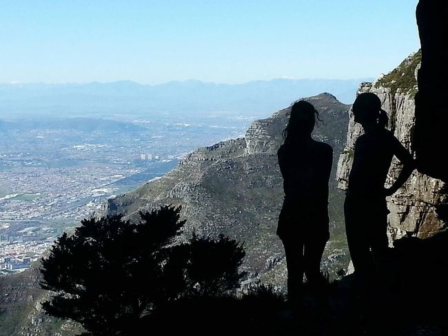 Two People Mountain Landscape Beauty In Nature Outdoors Nature Cloud - Sky Travel Destinations Camps Bay Cape Town Cape Town, South Africa, Africa Cape Town Beauty Beauty In Nature Nature Sky Tablemountain Table Mountain Table Mountain ⛰ Mountain Range Silhouette Silouette & Sky Silhouette Photography