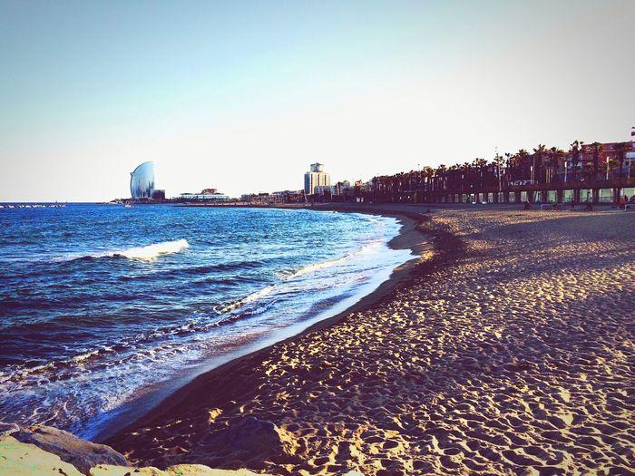 Being A Beach Bum Getting A Tan Sea Relaxing Enjoying The Sun Fresh Air Amazing Wiev Barcelona España