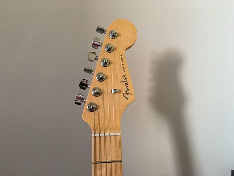 EyeEm Selects Musical Instrument Music Indoors  Wood - Material No People Arts Culture And Entertainment Musical Instrument String Electric Guitar Guitar Fretboard Close-up Day Fender Elite