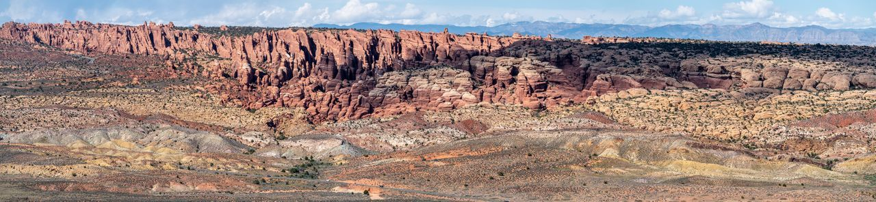 Rockorama USA Moab  Utah Arches National Park, Utah Panorama Nature Rock Colors