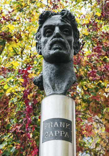 Frank Zappa Monument Statue Vilnius Lithuania Autumn Fall Art Musician Rock Star Guitarist Rock Famous Celebrity