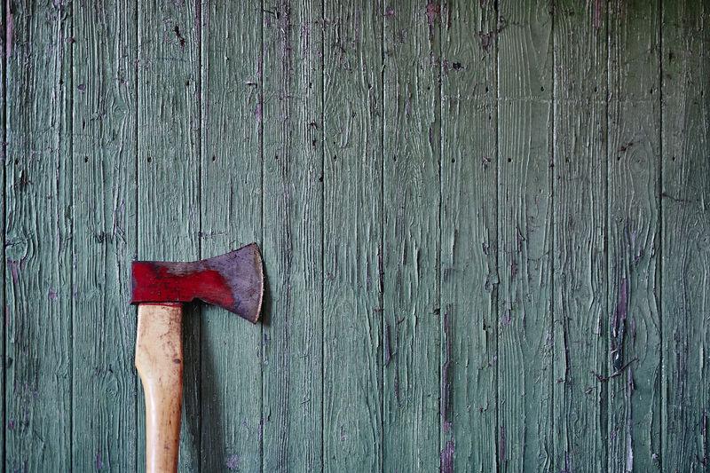 Close-up of weathered wooden door