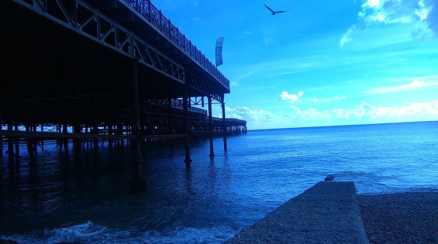 Hastings pier,sea front ,seaside, Sea Built Structure Sky Architecture No People Outdoors Beach Nature No Filter, No Edit, Just Photography Smartphone Photography Coastline Coastal Town Leonards,Hastings, Shoremetal structures,refurbishment,