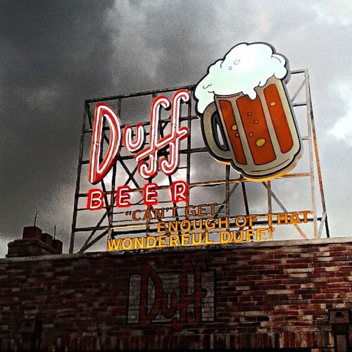 Universal Studios  The Simpsons Duff Beer Orlando