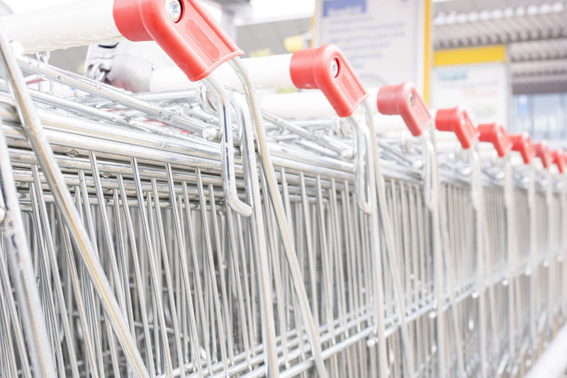 Close Up Of Shopping Carts