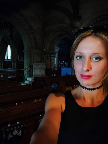 Take Me To Church One Person Real People Indoors  Looking At Camera Portrait Headshot Lifestyles