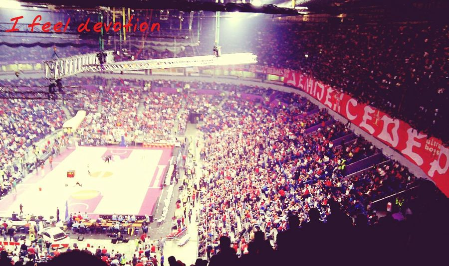 Congratulations to Red Star, my team, for big win against champions of Europe - Macabi Electra! This pic is from last season. I Feel Devotion Euroleague Crvena Zvezda Delije Sever Basketball Fans
