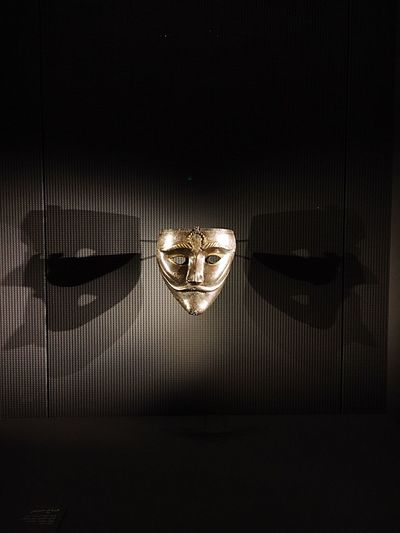Gold Colored Gold Celebration Love No People Indoors  Togetherness Night Illuminated Antique Qatar Tourism Place Museum Black Background EyeEm Selects Qatar Mask Old Items Bronze