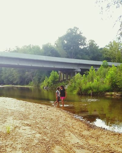 My Children My Kiddos Summer2015 EyeEm Nature Lover Wading Creek Fun Mississippi Summer Country Life Outside Photography Reflections