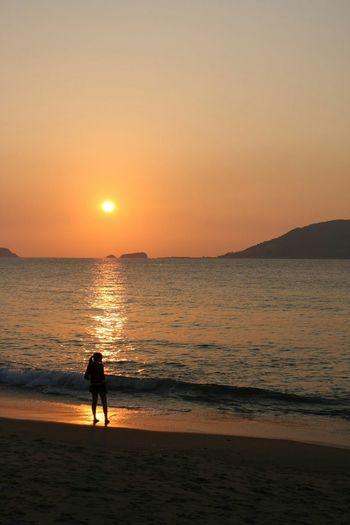 志賀島の黄昏 Enjoying Life Taking Photos Japanese Style シルエット部 風景 海 Sea Snapshot 夜景
