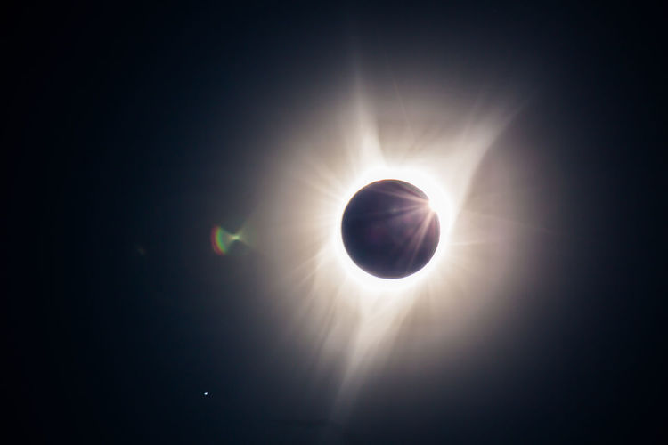 For only a fleeting moment after totality, the sun takes it's first peak through a crater on the moon's surface and produces the brief but brilliant phenomenon known as Bailey's Beads. Taken from deep within the Ochoco National Forest, Oregon, August 21, 2017 2017 Baileys Beads Corona Solar Flare Astronomy Astrophotography Beauty In Nature Flare Moon Nature No People Outdoors Sky Solar Eclipse Solar Wind Space Sun Sunbeam Sunlight Total Eclipse