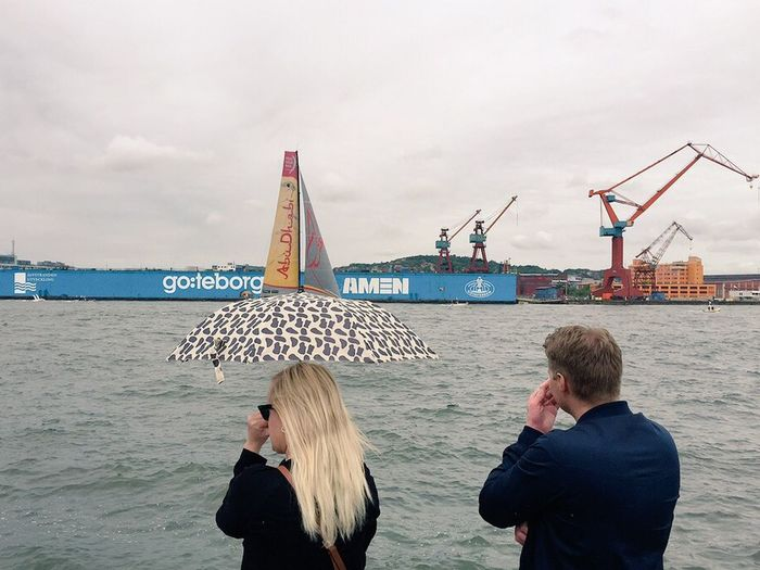Watching some fit humans Fly around on Boats for a Car company ( Volvo )