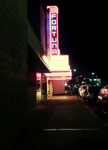 Last weekend at the Movie Theater . Funevening in my hometown. Family Time . Hanging Out Pretty Colors. Night Lights Night Photography Fortuna California Hometown Colour Of Life