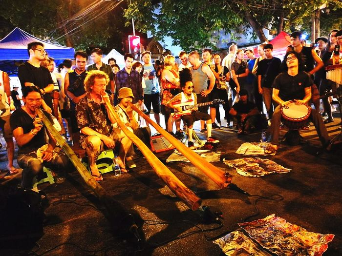 Arts Culture And Entertainment Music Musician Chiang Mai | Thailand Night Market Walking Street Tapae Didgeridoo Isn't Death