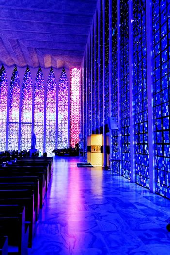 Brasilia city-Brazil Jesus Christ Croix Light And Shadow Light Dom Bosco Church Architecture_collection Brazil - Brasília - DF Brasília - Brazil