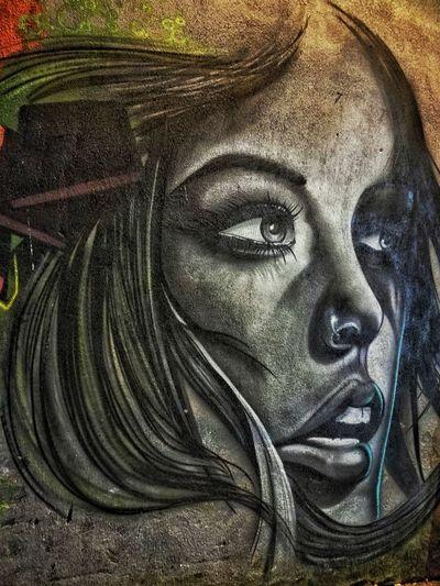 Lady murales....Streetphotography Face Indoors  Close-up Streetart Street Portrait Murales Murale Backgrounds Street Life No People Statue Women Street Fashion Street Art/Graffiti