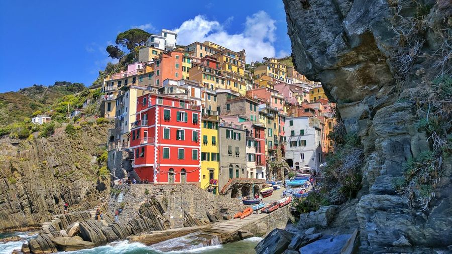 Mountain Outdoors Day Sky Low Angle View Architecture No People Tree Nature Italia Pisa Italy Landscape Arhitecture Water Building Exterior Riomaggiore Houses House Harbor Dock Vacations Travel Travel Destinations EyeEm Best Shots The Architect - 2017 EyeEm Awards