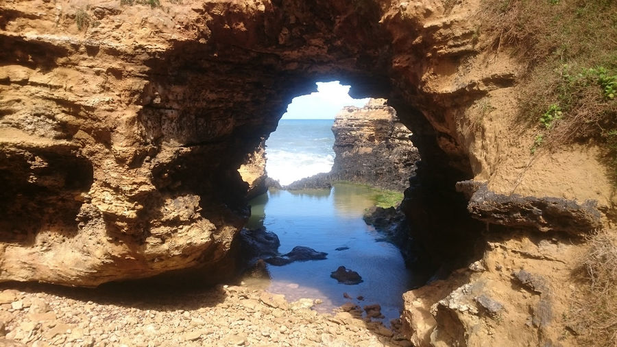 Australia Greatoceanroad Natural Arch Nature Outdoors Rock - Object Rock Formation Scenics Water