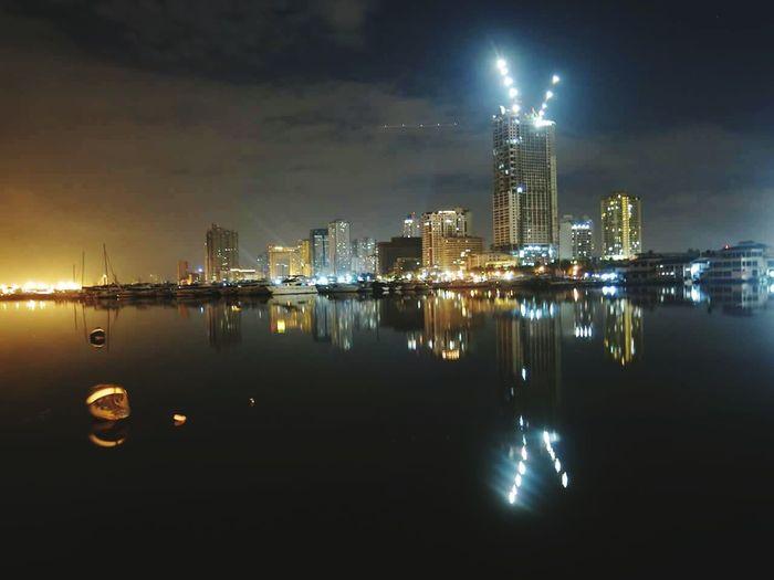 City lights. Bright Light Nightphotography Canon streetphotography Manila Philippines G15